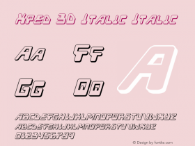 Xped 3D Italic