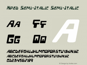Xped Semi-Italic