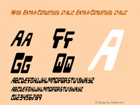 Xped Extra-Condensed Italic