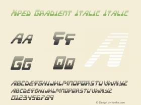 Xped Gradient Italic