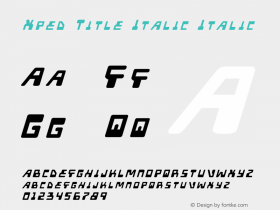 Xped Title Italic