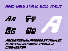 Xped Bold Italic