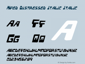 Xped Distressed Italic
