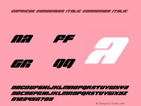 Capricus Condensed Italic