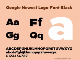Google Newest Logo Font