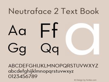 Neutraface 2 Text