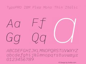 TypoPRO IBM Plex Mono