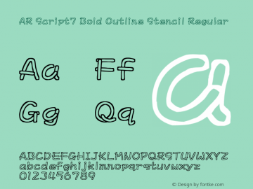AR Script7 Bold Outline Stencil