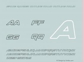 Space Ranger Outline Italic