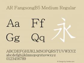 AR FangsongB5 Medium