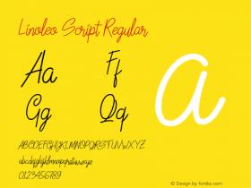 Linoleo Script