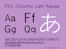 PKS AGGothic Light