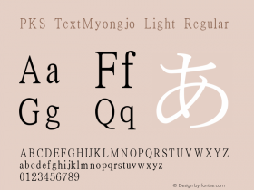 PKS TextMyongjo Light