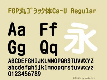 FGP丸ゴシック体Ca-U