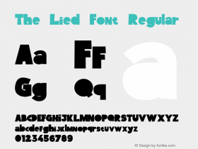 The Lied Font