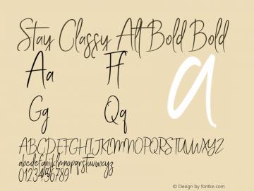 Stay Classy Alt Bold