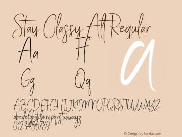 Stay Classy Alt