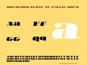 Boldesqo Serif 4F Italic