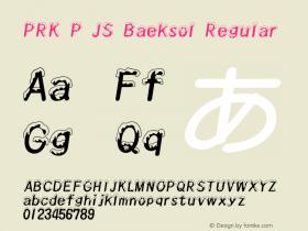 PRK P JS Baeksol