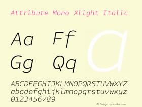Attribute Mono