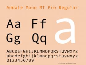Andale Mono MT Pro