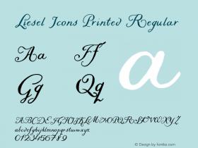 Liesel Icons Printed