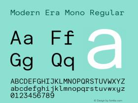 Modern Era Mono