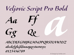 Veljovic Script Pro