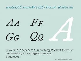 1822GLCCaslonW00SC-Italic