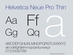 Helvetica Neue Pro