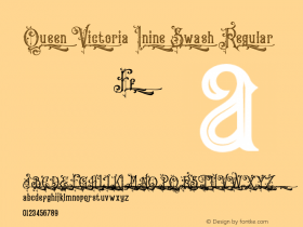 Queen Victoria Inine Swash