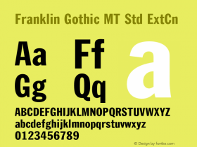 Franklin Gothic MT Std
