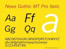 News Gothic MT Pro