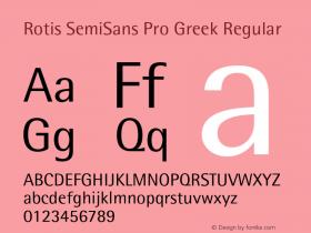 Rotis SemiSans Pro Greek