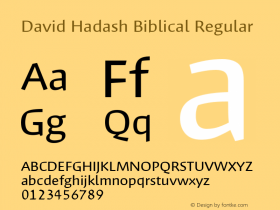 David Hadash Biblical