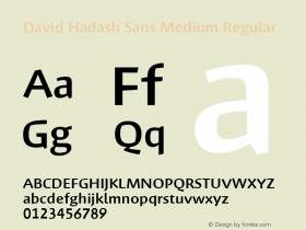 David Hadash Sans Medium