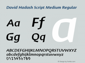 David Hadash Script Medium