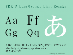 PRK P LongMyongjo Light