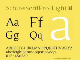 SchussSerifPro-Light