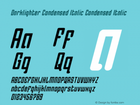 Darklighter Condensed Italic