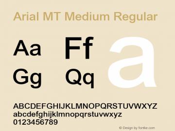 Arial MT Medium