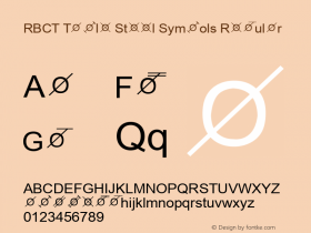 RBCT Table Steel Symbols