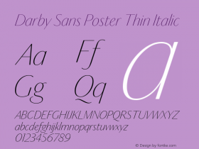 Darby Sans Poster