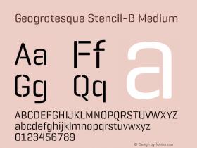 Geogrotesque Stencil-B