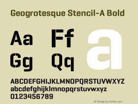 Geogrotesque Stencil-A