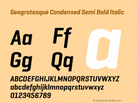 Geogrotesque Condensed