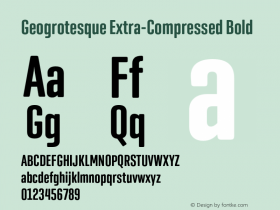 Geogrotesque Extra-Compressed
