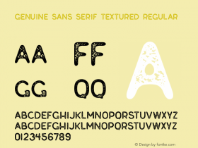 Genuine Sans Serif Textured