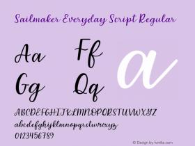 Sailmaker Everyday Script