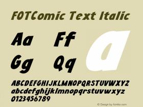 FOTComic Text